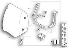 Goto diagram: BMW Classic Motorbike Model R 1200 R 06 (0378,0398)( USA ), Category 77.33 Windscreen, high :: Diagram: 77_0154