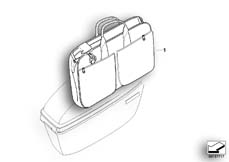 Goto diagram: BMW Classic Motorbike Model F 800 GT (0B03, 0B13)( USA ), Category 77.41 Inner pocket, case, official-use :: Diagram: 77_0157