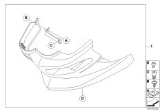 Goto diagram: BMW Classic Motorrad Modell F 800 GT 17 (0B53, 0B63)( USA ), Category 77.31 Engine spoiler :: Diagram: 77_0169