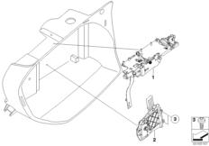 Goto diagram: BMW Classic Motorbike Model F 800 R (0215)( BRA ), Category 77.43 Lock, topcase 28l :: Diagram: 77_0187