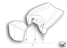 Goto diagram: BMW Classic Motorrad Modell R 1200 S (0366,0396)( ECE ), Category 77.34 Seat :: Diagram: 77_0206