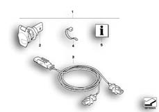 Goto diagram: BMW Classic Motorbike Model R 1200 R 06 (0378,0398)( USA ), Category 77.53 Retrofit kit, socket :: Diagram: 77_0214