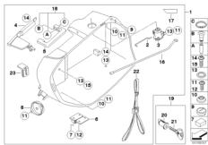 Goto diagram: BMW Classic Motorbike Model R 1200 R 06 (0378,0398)( USA ), Category 77.41 Case, lower part :: Diagram: 77_0269