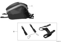 Goto diagram: BMW Classic Motorbike Model K 1200 S (0581,0591)( ECE ), Category 77.45 Tank bag K40 :: Diagram: 77_0294
