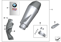 Goto diagram: BMW Classic Motorbike Model S 1000 RR 10 (0507,0517)( ECE ), Category 77.11 Sport silencer :: Diagram: 77_0313