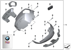 Goto diagram: BMW Classic Motorbike Model R nineT (0A06, 0A16)( USA ), Category 77.12 Cyl. head cover protection, aluminium :: Diagram: 77_0350