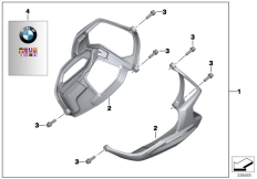 Goto diagram: BMW Classic Motorrad Modell R nineT Pure (0J11, 0J13)( USA ), Category 77.12 Valve-cover guard, plastic :: Diagram: 77_0351