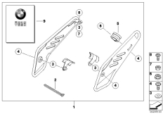 Goto diagram: BMW Classic Motorbike Model R 1200 GS Adve. 10 (0470,0480)( ECE ), Category 77.25 Kit, frame guard :: Diagram: 77_0352