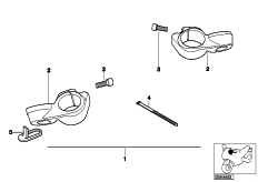 Goto diagram: BMW Classic Motorbike Model K 1200 RS 97 (0544,0554)( ECE ), Category 77.22 Handlebar holder comfort :: Diagram: 77_0371