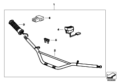 Goto diagram: BMW Classic Motorbike Model R 1100 GS 94 (0404,0409)( USA ), Category 77.22 Retrofit kit, heated handle :: Diagram: 77_0377