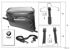 Goto diagram: BMW Classic Motorrad Modell K 1600 GT 17 (0F01, 0F11)( ECE ), Category 77.45 Tank-Bag :: Diagram: 77_0390