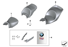 Goto diagram: BMW Classic Motorbike Model K 1600 GTL 17 (0F02, 0F12)( USA ), Category 77.34 Seat :: Diagram: 77_0407
