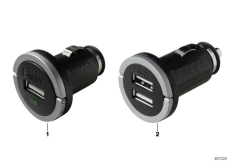 Goto diagram: BMW Classic Motorrad Modell C 650 Sport 16 (0C04, 0C14)( USA ), Category 77.31 BMW USB charger :: Diagram: 77_0429