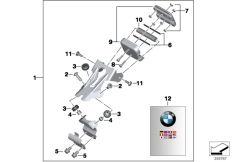 Goto diagram: BMW Classic Motorbike Model C 600 Sport (0131, 0132)( ECE ), Category 77.52 Mounting parts, BMW Motorrad Navigator :: Diagram: 77_0440