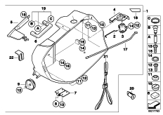 Goto diagram: BMW Classic Motorrad Modell R 900 RT 05 SF (0367,0387)( ECE ), Category 77.41 Case, lower part :: Diagram: 77_0447