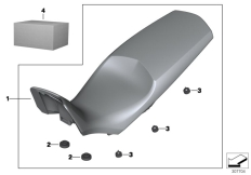 Goto diagram: BMW Classic Motorrad Modell F 700 GS 17 (0B26)( BRA ), Category 77.34 Seat bench :: Diagram: 77_0449