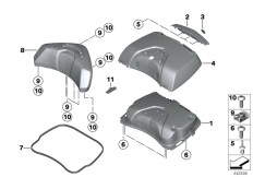 Goto diagram: BMW Classic Motorrad Modell K 1600 GT 17 (0F01, 0F11)( ECE ), Category 77.43 Topcase lid :: Diagram: 77_0453