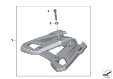 Goto diagram: BMW Classic Motorrad Modell F 700 GS 17 (0B26)( BRA ), Category 77.44 Luggage rack, topcase :: Diagram: 77_0465