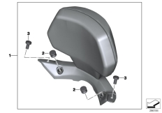 Goto diagram: BMW Classic Motorrad Modell C 650 Sport 16 (0C04, 0C14)( USA ), Category 77.34 Backrest :: Diagram: 77_0471
