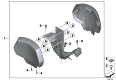 Goto diagram: BMW Classic Motorrad Modell C 650 GT 16 (0C05, 0C15)( ECE ), Category 77.34 Backrest :: Diagram: 77_0472