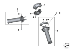 Goto diagram: BMW Classic Motorbike Model F 800 R (0215)( BRA ), Category 77.22 Handlebar grip, heated :: Diagram: 77_0499