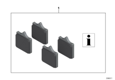 Goto diagram: BMW Classic Motorbike Model S 1000 RR 17 (0D50, 0D60)( ECE ), Category 77.23 HP Race brake pads :: Diagram: 77_0501