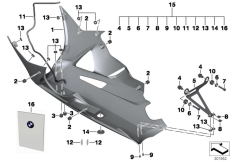Goto diagram: BMW Classic Motorrad Modell HP4 (0D01, 0D11)( ECE ), Category 77.31 Engine spoiler, carbon :: Diagram: 77_0522