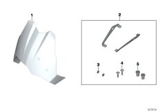 Goto diagram: BMW Classic Motorrad Modell F 700 GS (0B21)( BRA ), Category 77.33 Windscreen, high, clear :: Diagram: 77_0523