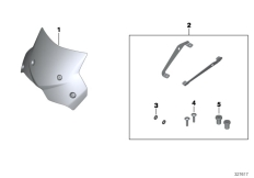 Goto diagram: BMW Classic Motorrad Modell F 700 GS 17 (0B06, 0B16)( USA ), Category 77.33 Windscreen, tinted, small :: Diagram: 77_0524