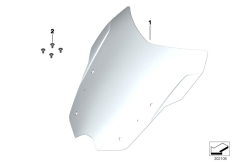Goto diagram: BMW Classic Motorrad Modell C 650 Sport 16 (0C04, 0C14)( USA ), Category 77.33 Sport windscreen :: Diagram: 77_0532