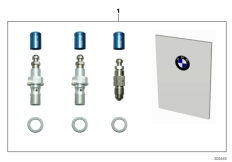Goto diagram: BMW Classic Motorbike Model S 1000 RR 10 (0507,0517)( ECE ), Category 77.02 Set, HP Race brake bleeder valve :: Diagram: 77_0538