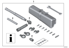 Goto diagram: BMW Classic Motorrad Modell R 1200 RT (0A03, 0A13)( USA ), Category 77.02 Tool kit, service kit :: Diagram: 77_0539