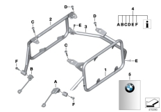 Goto diagram: BMW Classic Motorrad Modell R 1200 GS 17 (0A51, 0A61)( USA ), Category 77.42 Set mounting parts for case porter :: Diagram: 77_0541