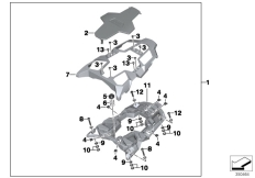 Goto diagram: BMW Classic Motorrad Modell R 1200 GS 17 (0A51, 0A61)( USA ), Category 77.44 Set, luggage plate, rear seat :: Diagram: 77_0546