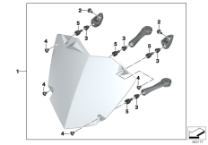 Goto diagram: BMW Classic Motorrad Modell R 1200 GS 17 (0A51, 0A61)( USA ), Category 77.51 Set, headlight guard :: Diagram: 77_0555