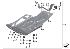 Goto diagram: BMW Classic Motorrad Modell R 1200 GS 17 (0A51, 0A61)( USA ), Category 77.14 Engine guard, aluminium :: Diagram: 77_0572