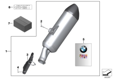 Goto diagram: BMW Classic Motorbike Model R 1200 GS Adve. (0A42)( BRA ), Category 77.11 Sport silencer :: Diagram: 77_0573