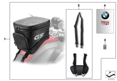 Goto diagram: BMW Classic Motorrad Modell R 1200 GS 17 (0A51, 0A61)( USA ), Category 77.45 Tank bag, large :: Diagram: 77_0580