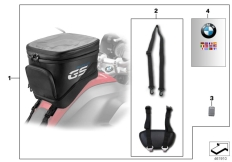 Goto diagram: BMW Classic Motorrad Modell R 1200 GS 17 (0A51, 0A61)( USA ), Category 77.45 Tank bag, small :: Diagram: 77_0581