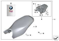 Goto diagram: BMW Classic Motorrad Modell R 1200 GS 17 (0A51, 0A61)( USA ), Category 77.34 Rallye seat with luggage plate :: Diagram: 77_0582