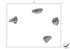 Goto diagram: BMW Classic Motorrad Modell R 1200 GS 17 (0A51, 0A61)( USA ), Category 77.31 Set, trims, grab handle bore holes :: Diagram: 77_0591