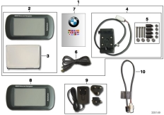 Goto diagram: BMW Classic Motorrad Modell R 900 RT 05 SF (0367,0387)( ECE ), Category 77.52 BMW Motorrad Navigator Adventure :: Diagram: 77_0627