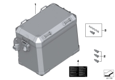 Goto diagram: BMW Classic Motorrad Modell R 1200 GS 17 (0A51, 0A61)( USA ), Category 77.41 Aluminium case :: Diagram: 77_0635