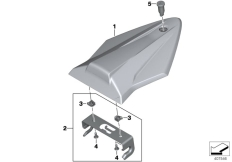 Goto diagram: BMW Classic Motorbike Model S 1000 R 17 (0D52, 0D62)( ECE ), Category 77.31 Pillion seat cover, plastic :: Diagram: 77_0639