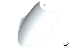 Goto diagram: BMW Classic Motorrad Modell R 1200 RT (0A03, 0A13)( USA ), Category 77.33 Windshield, comfort :: Diagram: 77_0655