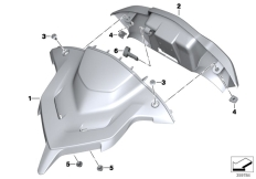 Goto diagram: BMW Classic Motorrad Modell R 1200 RT (0A03, 0A13)( USA ), Category 77.52 Instrument cover, navigation :: Diagram: 77_0696