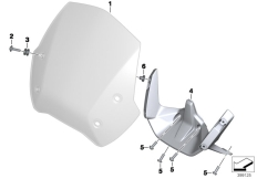 Goto diagram: BMW Classic Motorrad Modell R 1200 R (0A04, 0A14)( ECE ), Category 77.33 Sport windscreen :: Diagram: 77_0716
