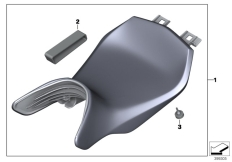 Goto diagram: BMW Classic Motorrad Modell R 1200 RS (0A05, 0A15)( USA ), Category 77.34 Seat bench, low :: Diagram: 77_0719
