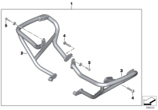 Goto diagram: BMW Classic Motorrad Modell R 1200 RS (0A05, 0A15)( USA ), Category 77.14 ENGINE PROTECTION BAR :: Diagram: 77_0722