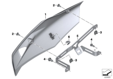 Goto diagram: BMW Classic Motorrad Modell R 1200 RS (0A05, 0A15)( USA ), Category 77.31 Engine spoiler :: Diagram: 77_0745